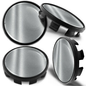 4x 68mm - 65mm Alloy Wheel Centre Hub Center Rim Caps Compatible with BMW Silver