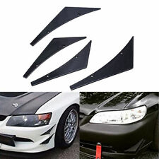Car Front Bumper Splitter Fins Lip Spoiler Wing Canards Valence Chin CF Look 4x