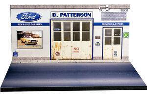 Diorama présentoir Ford UK - D. Patterson - 1/43ème - #43-2-C-B-011
