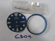 BLUE  Dial,Hands,  Minute Marker Ring SET NEW made for SEIKO DIVER 6309 auto
