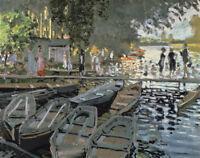 Claude Monet Bathers At La Grenouillere Fine Art Print on Canvas Painting Giclee