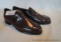 Vintage 60's 70's NOS NWT JB Men's Man Made Reddish Brown Penny Loafers Sz 7.5 M