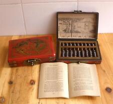 Chinese traditional Counting tool abacus+dragon phoenix wooden box user manual