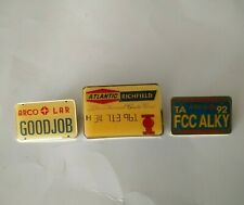 3 Rare Atlantic Richfield Arco Employee Pins Credit Card License Plate Oil Co