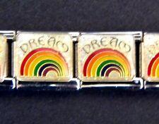 RAINBOW DREAM ARCH GAY LGBT PRIDE ENAMEL ITALIAN MODULAR CHARM, 9mm, Single Link