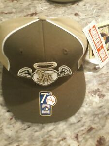 NWT MLB Throwback LA Angels Cap, Planet Earth Cooperstown Collection, Size 7 1/2