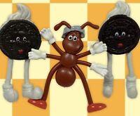 Vintage HEINZ Ketchup ANT Nabisco OREO COOKIES Advertising Bendy Toy Figure LOT