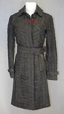 $7,995 RUNWAY Burberry Prorsum Ruched Leather Trench 6 40 Coat Women Lady Gift