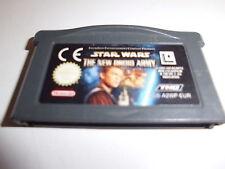 Nintendo Game Boy Advance GBA Star Wars episodio 2-zhe New Droid Army