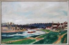 Paul Petit, péniche sur un fleuve. La Marne, la Seine ?