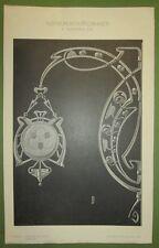 ART NOUVEAU FERRONNERIE D ART PLANCHE IMPRIMEE DEBUT XXEME ALLEMAGNE §3