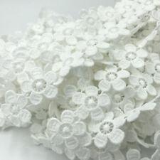 3 Yards Weiße Blumen Spitze Dekorative Kleidung Handwerk Hochzeitskleid Zubehör