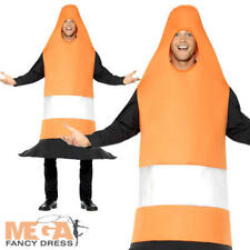 Traffic Cone Novelty Mens Womens Fancy Dress Funny Stag Do Night Adults Costume