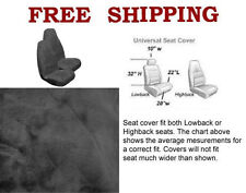 New 2 Front Synthetic Sheep Skin Sheepskin Car Truck Seat Cover- Gray / Smoke