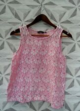 NEW LOOK LADIES FLORAL LACE DETAIL SUMMER VEST TOP UK 10  HOLIDAY A6