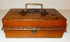 Antique English Cash Box / Till with Hand Wrought Lock & Brass Hardware