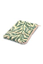 William MORRIS Quilted Bag Purse Cosmetici Sacchetto Salice Rami in tessuto verde