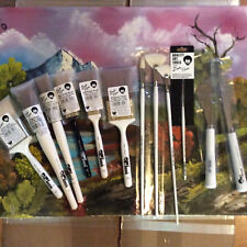 BOB Ross lancscape brush set 10 brushes and 2 knives