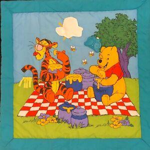 "Vtg Disney Winnie The Poo Play Mat Infant Baby Activity Soft ~33.5""x 33.5"" Cute"