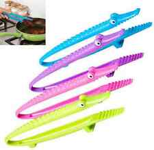 Silicone Tongs Cooking Clip Kitchen Handle Utensil Steak Bread Serving Tools ca