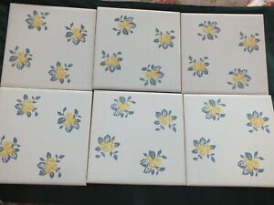 Vintage Laura Ashley Tiles - Country Posy Set of 6