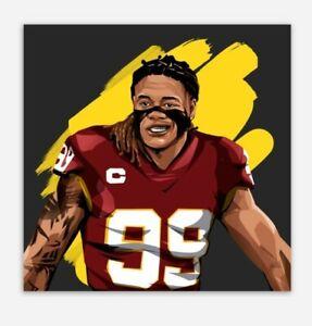 CHASE YOUNG MAGNET -Washington Football Team Redskins NFL Logo beast
