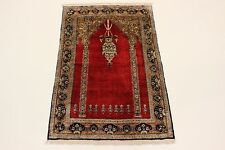 S.Ancien Shahreza 100 % Soie sur soie Persan Tapis Tapis d'orient 1,56 X 1,00