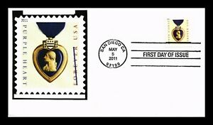 PURPLE HEART MILITARY AWARD FOREVER FDC SEALED US COVER