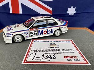 1:18 Biante BMW M3 Group A Mobil #56 Peter Brock / Jim Richards 1988 Bathurst
