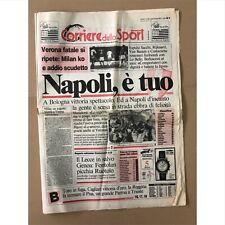 Maradona Corriere Dello Sport Scudetto Napoli Rare 1990