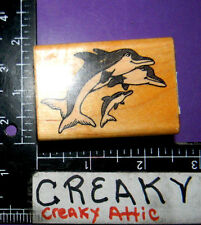 DOLPHINS SWIMMING BABY RUBBER STAMP COMOTION 654