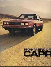MERCURY CAPRI 1979 USA delle vendite sul mercato opuscolo RS TURBO RS GHIA