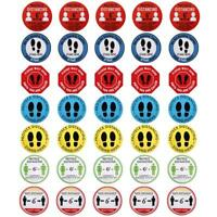 5Pcs Social Distancing Signs Self Adhesive Floor Stickers Keep Distance 6 Feets