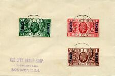 "1935 Silver Jubilee Tangier Overprints on Forged Madame Joseph ""FDC"""