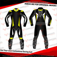 MOTORCYCLE SUIT MOTORBIKE LEATHER RIDING SUIT RACING/STREET CUSTOM MADE 1PC 2PC