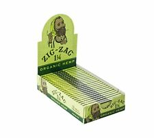 New Zig-Zag Organic Hemp Ultra Thin Unbleached 1 1/4  Rolling Paper 24 booklets