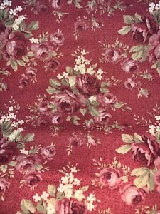 """""""Country Roads"""" Print  Red Roses On Red Fabric by Robyn Pandolph for SSI"""