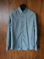 TED BAKER SHIRT Check Green & Navy Blue Long Sleeve SIZE 3 / MEDIUM - VGC