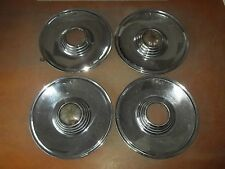 "Lincoln Premier Hubcap Rim Wheel Cover Hub Cap 1957 57 USED 15"" OEM SET 4 CORES"