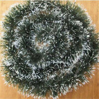 2M (6.5Ft) New Chunky Tinsel Chrismas Tree Decoration Gift Xmas Garland Green
