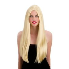 Ladies Classic Long Wig Outfit Accessory for 60s 70s Fancy Dress Womens Blonde