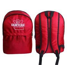 1PCS JDM Bride Racing Backpack Red Carbon Fiber School Shoulder Travel bag