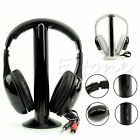 5 in 1 Hi-Fi Wireless Headset Headphone Earphone for TV DVD MP3 PC