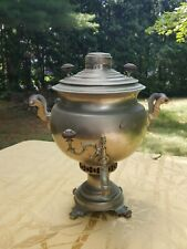 Antique Russian imperial period nickel plated samovar.