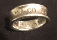 Tiffany & Company T&CO Sterling Silver 925 1837 Ring Size 7