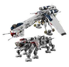 Republic Dropship with AT-OT Building Toys 1788 Pcs-MOC 10195 DHL Delivery