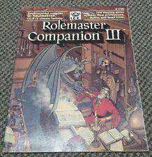 Rolemaster Companion III - ICE Stock #1700 1988