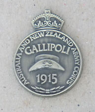 GALLIPOLI LAPEL BADGE ANTIQUE BRONZE PLATED 25MM HIGH WITH 1 PIN