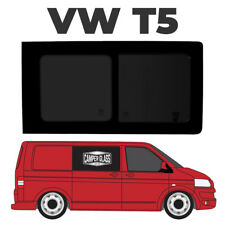 T5 FAKE VW T5 LWB Transporter Pair OF TOTAL BLACK OUT Rear Side Windows