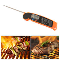 Digital Food Meat Thermometer Foldable Stainless Steel Probe Kitchen BI806 UK